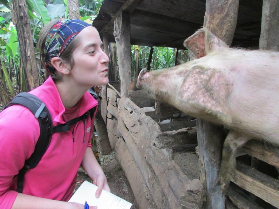 Kissing Pig